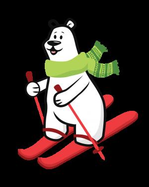 Polar Bear skiing - Molar Bear Pediatric Dentistry